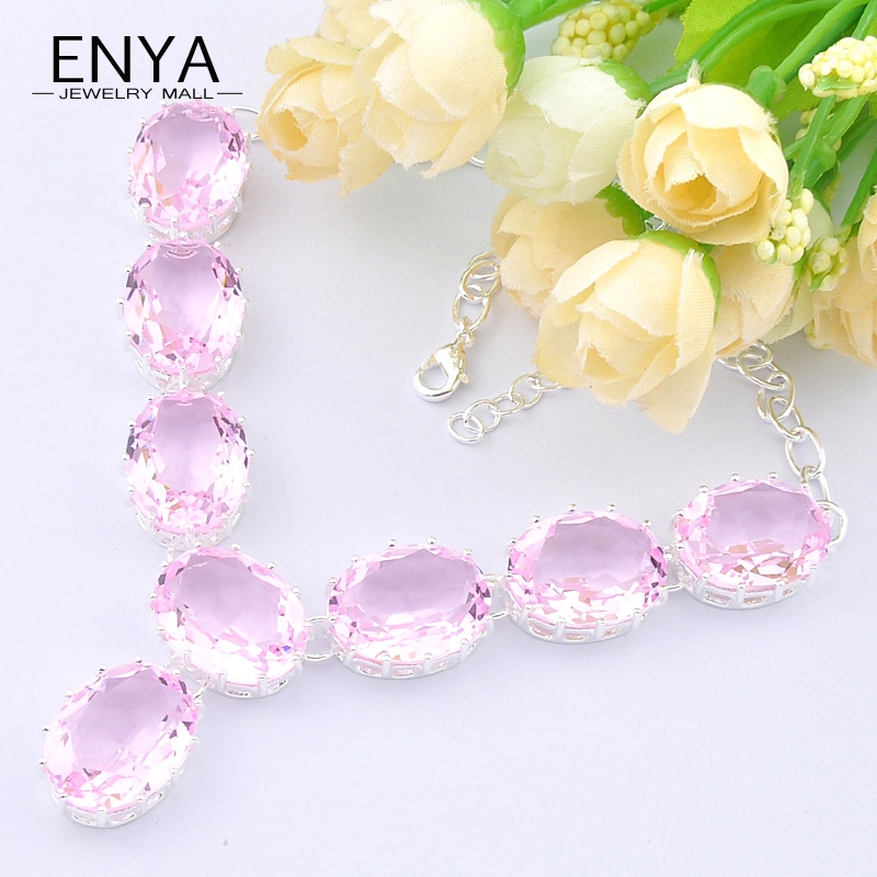 ENYA New Arrival Fashion Women Necklace Beautiful Pink ...