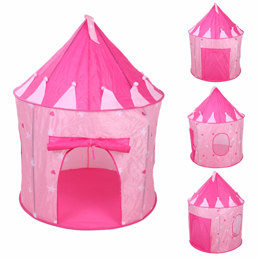 newest pop up play tent kids girl princess castle outdoor. Black Bedroom Furniture Sets. Home Design Ideas